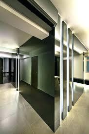 large subway tile bathroom panels wall mirror design feat walnut