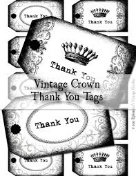black and white vintage thank you hang tags digital collage