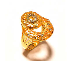 jali design gold plated fancy ring