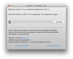 how to jailbreak ios 7 using evasi0n7 mac tutorial