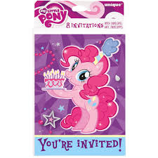 walmart halloween invitations my little pony invitations 8ct walmart com
