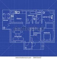 blueprint floor plan floorplan nightclub stage bar blueprint style stock vector