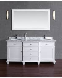 bargains on stufurhome cadence white 60 inch sink bathroom
