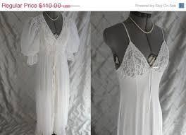 wedding peignoir sets on sale wedding vintage 1980s white chiffon