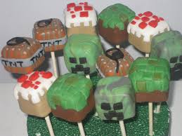marvelous minecraft cake pops between the pages