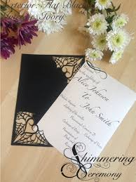 Spider Web Gothic Wedding Programs Pocket Laser Cut Halloween
