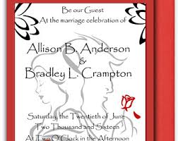 and the beast wedding invitations and the beast wedding invitations gangcraft net
