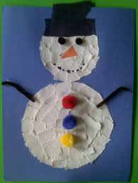 crafts for preschoolers torn paper snowman
