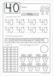 number concepts no prep worksheets for numbers 21 40 my tpt