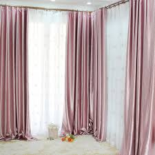 Light Pink Window Curtains Light Pink Blackout Curtains With Leaf Patterns Are