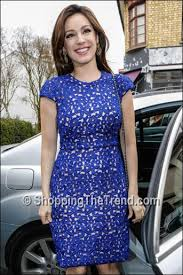 shop kelly brook issa blue lace dress celebrity juice april 11