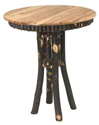 Rustic Bar Table Noble Rustic Hickory Pub Table