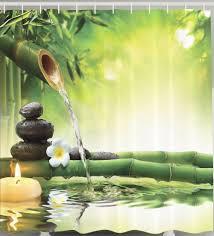 Asian Zen Decor by Asian Bamboo Zen Fountain Tranquility Spa Peace Meditation Fabric