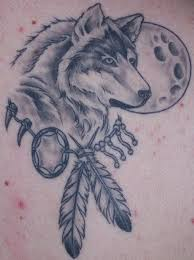 wonderful wolf moon design idea