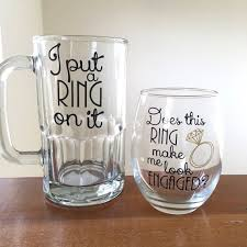 engagement gift from parents couples engagement gift i put a ring on it mug does this ring