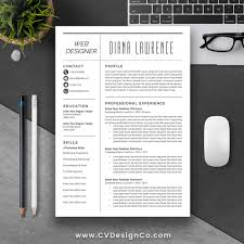 professional simple resume template best selling cv template