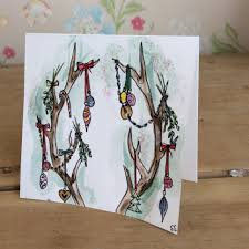 order christmas cards antlers painted christmas card by emilyesmerose x made to