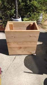 San Francisco Urban Garden - redwood planter box from san francisco urban garden redwood