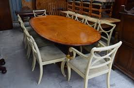 fine regency style dining table u0026 10 hand painted chairs