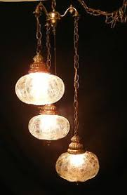 Hanging Ls That Plug Into Wall Vintage Mid Century 3 Light My