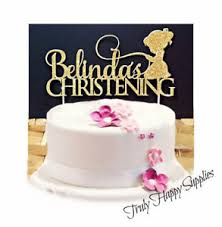 name cake toppers christening cake topper personalised name girl boy baptism 16