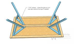 attaching legs to a table ana white y leg table diy projects