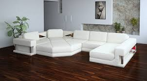 Modern White Bonded Leather Sectional Sofa ᐈ Vig Divani Casa 2315 Bonded Leather Sectional Sofa