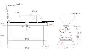 norme hauteur plan de travail cuisine hauteur miroir salle de bain aussi plan toucan x mm hauteur applique