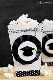 graduation boxes themed diy party popcorn boxes