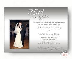 25th wedding anniversary invitations 25th wedding anniversary invitations silver wedding invitation