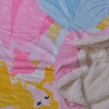 Tende Principesse Disney by Plaid Doppio Con Pellicciotto Caleffi Disney Principesse Farfalle