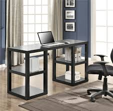 simple desk with shelf ideas for your home office decor
