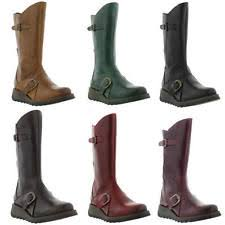 womens boots uk size 2 fly s zip mid calf boots ebay