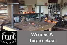 simple walkthrough gudde co awesome welding a trestle table base