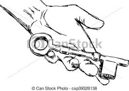 vectors of illustration vector hand drawn sketch of hand holding