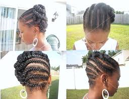 images of braids with french roll hairstyle african american french braid updo hairstyles medium hair styles