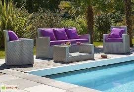 canape jardin resine tressee salon jardin résine tressée méditerranée 4 pièces dcb garden