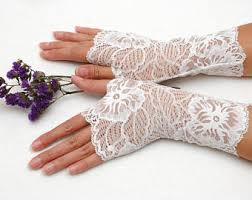 wedding gloves white lace fingerless gloves crochet gloves