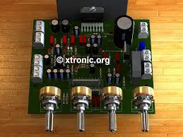 2 1 home theater circuit diagram circuit power audio amplifier with tda7377 2 1 xtronic