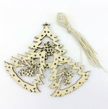 wood tree ornaments lights decoration