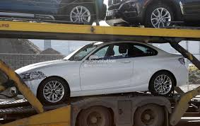 2018 bmw 2 series facelift spied on transport truck shows design