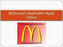 mcdonald career application online mcdonalds application related