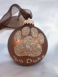 paw print glitter ornament your choice of color
