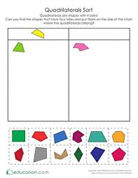 all worksheets quadrilateral worksheets grade 4 printable