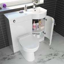 Bathroom Vanity Unit With Basin And Toilet Curved Bathroom Vanity Unit 900mm With Basin And Toilet Ebay