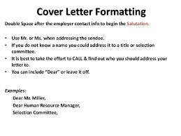 cover letter header cover letter formatting formatting hints for