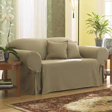Walmart Slipcovers For Sofas by Sure Fit Cotton Duck Sage Sofa Slipcover Walmart Com