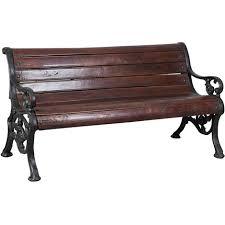 panchine legno panchina in legno massiccio e ghisa l160xpr65xh75 cm biscottini