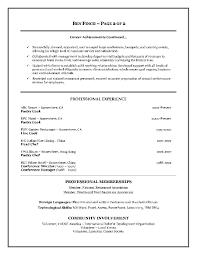 resume sample for catering job