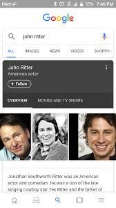 Zach Braff Meme - if you google john ritter one of the images it shows is zach braff